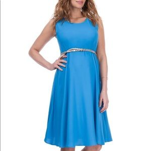 EUC Seraphine Blue Maternity Swing Dress